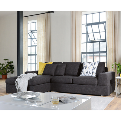 Verona left hand corner sofa bed with storage charcoal