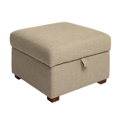 Ankara footstool with storage fawn