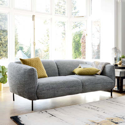 Valletta two seater sofa dark grey