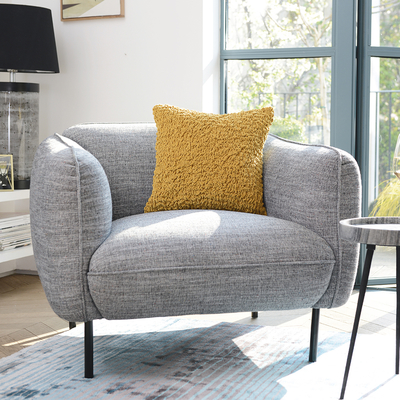 Valletta armchair dark grey