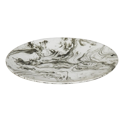 Marbled ceramic decorative plate large