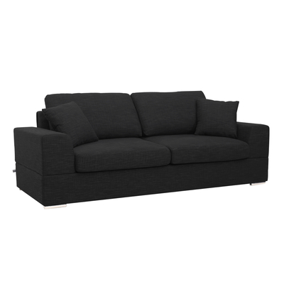 Verona three seater sofa bed charcoal