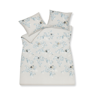 Birdy print duvet set with housewife pillowcase double