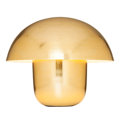 Mushroom table light brass large
