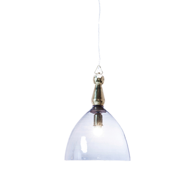 Hanging blue glass pendant light