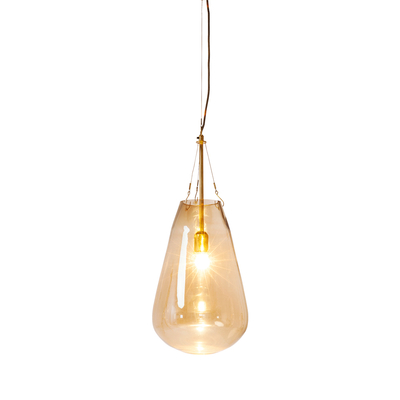 Hanging gold glass pendant light