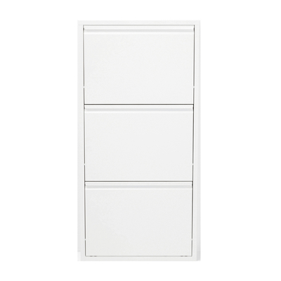Three drawer shoe cupboard white