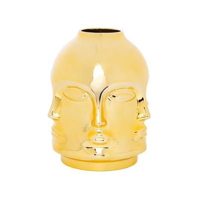 Faces vase gold