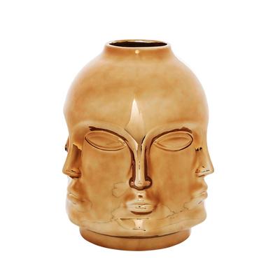 Faces vase rose gold