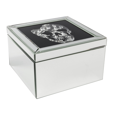 Skull mirror jewellery box