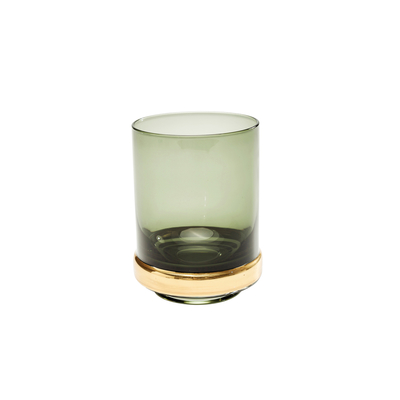 Veneto smoked glass tumbler