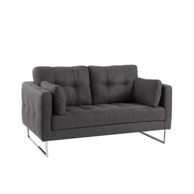 Paris two seater sofa charcoal fabric