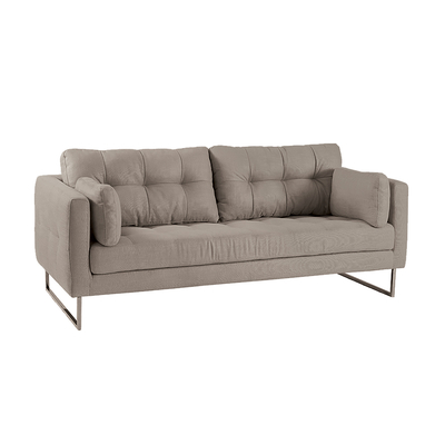 Paris three seater sofa pewter fabric