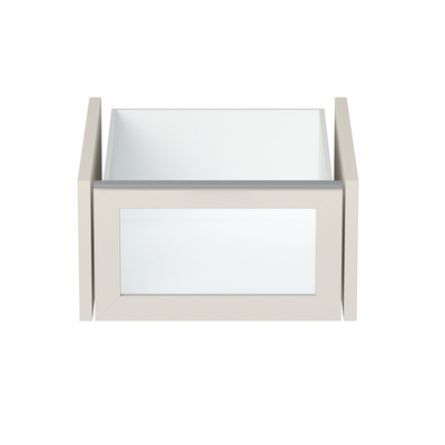 Loft tall interior drawer with glass panel small