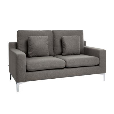 Oslo two seater sofa dark grey felt
