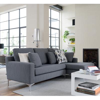 Exceptionnel Oslo Right Hand Corner Sofa Graphite Fabric