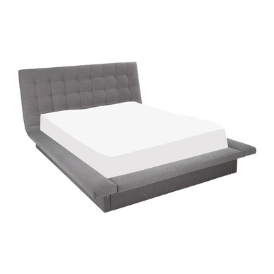 Kingsley bed with storage king grey ...