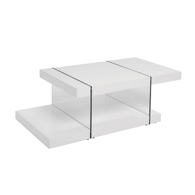 Treble coffee table white