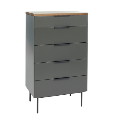 Antwerp contrast chest of drawers with lifting mirror