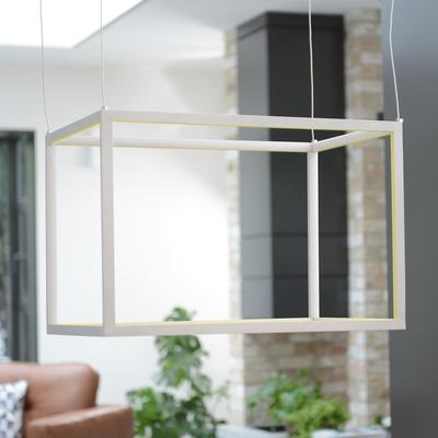 Frame cube pendant light rectangle