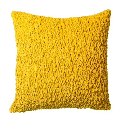 Ruffles cushion yellow