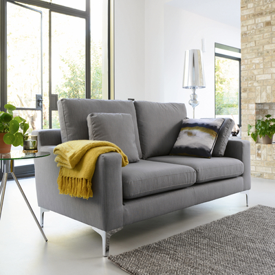 Oslo two seater sofa fossil fabric