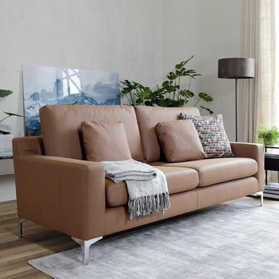 Oslo leather three seater sofa natural tan