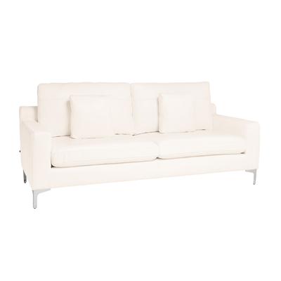 Oslo leather three seater sofa brilliant white