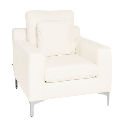 Oslo leather armchair brilliant white