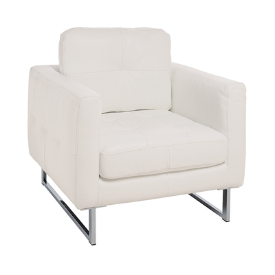 Paris faux leather armchair brilliant white