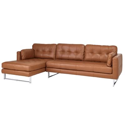 Paris leather left hand corner sofa ...