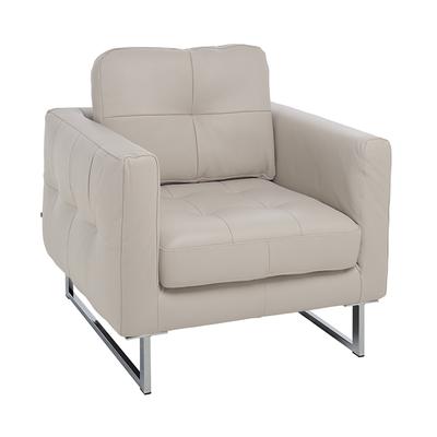 Paris faux leather armchair stone