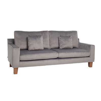 Ankara three seater sofa velvet grey