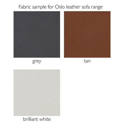Fabric sample for Oslo leather sofa range
