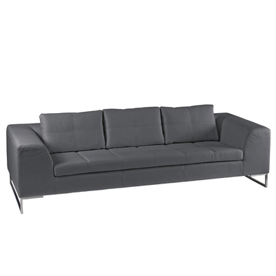 Vienna leather three seater sofa grey
