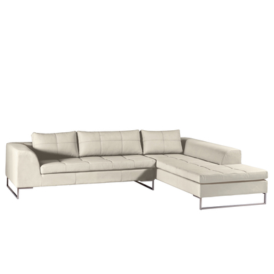Vienna right hand corner sofa stone