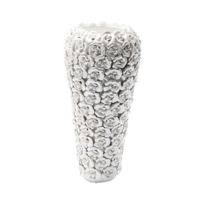 Rose ceramic vase white pearl