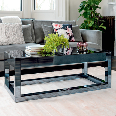 Reflect smoked mirrored coffee table
