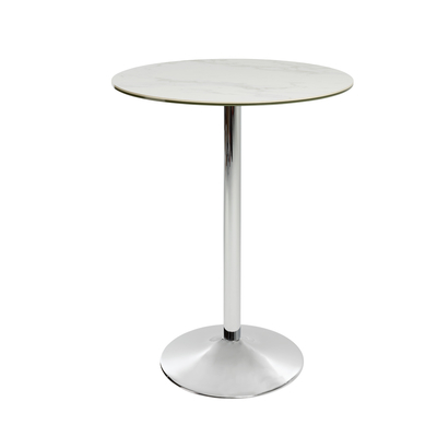 Palermo marble effect ceramic bar table