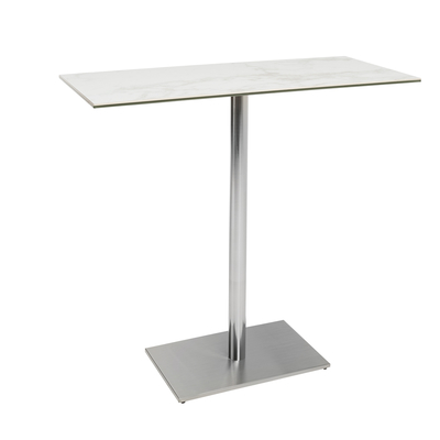 Sicily marble effect ceramic bar table