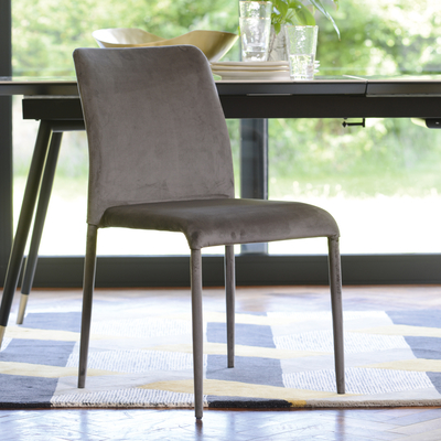 Svelte dining chair grey velvet