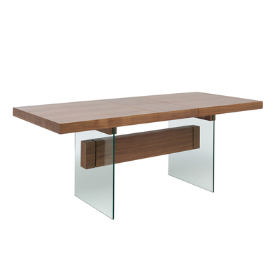 Treble extending 6-8 seater dining table walnut