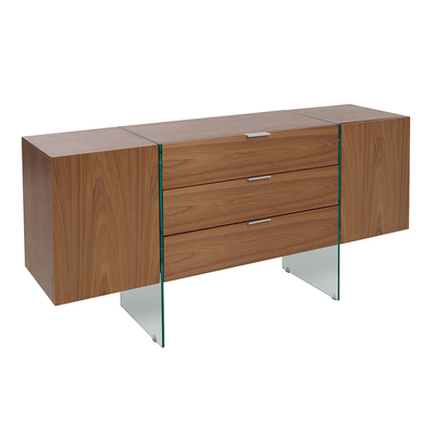 Treble sideboard walnut