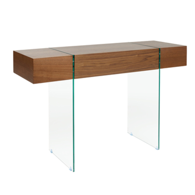 Treble console table with drawer walnut