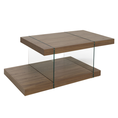 Treble coffee table walnut