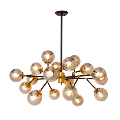 Globes smokey glass pendant light