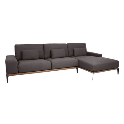 Malmo right hand corner sofa dark grey