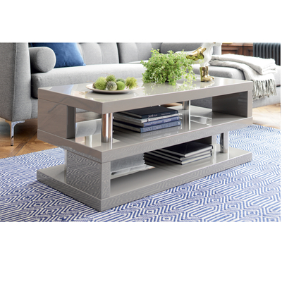 Contour coffee table stone