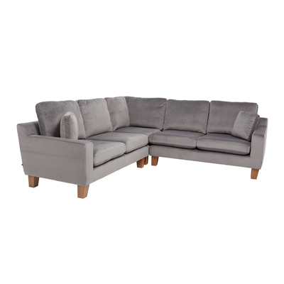 Ankara full corner sofa velvet grey