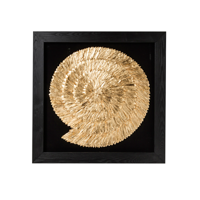 Gold feather art large